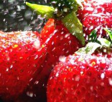 Strawberry Splatter Sticker
