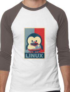 Linux Baby Tux Men's Baseball ¾ T-Shirt