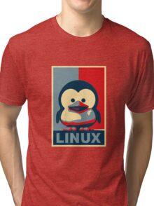 Linux Baby Tux Tri-blend T-Shirt