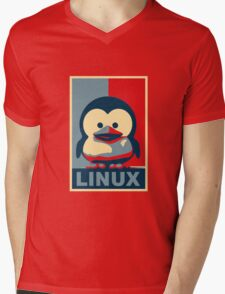Linux Baby Tux Mens V-Neck T-Shirt