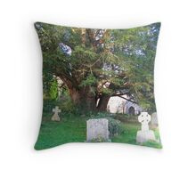 Ancient yew tree Throw Pillow