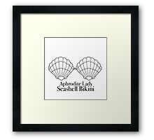 Seashell Bikini Framed Print
