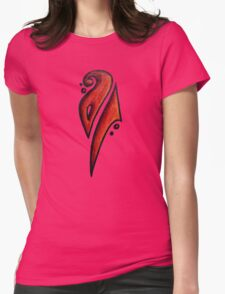 Strong / قوي (orange) Womens Fitted T-Shirt