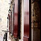 Red Shutters by Hena Tayeb