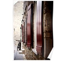 Red Shutters Poster