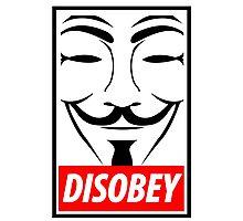 Disobey Photographic Print