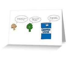 Sad Vegetables  Greeting Card