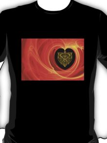 GOLDEN LEAF IN ORANGE YELLOW AND BLACK T-Shirt