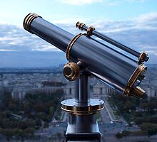 Tower Viewer Telescope on the top of the Eiffel Tower by victoriakwwu