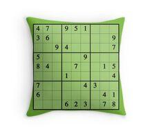 Sudoku! Throw Pillow