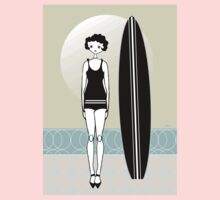 1920s Surfer Flapper Gatsby Girl at the Beach Kids Clothes