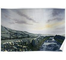 """""""A Drizzly Day in the Dales"""" Poster"""