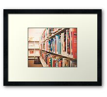 Library Time Framed Print