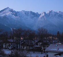 Dawn on the Zugspitze Massiv by Hugh Chaffey-Millar