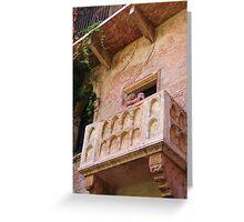 Juliet's Balcony in Verona Greeting Card