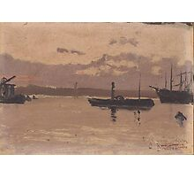 Santiago Rusiñol - Sketch of a Port 1888-90 Photographic Print