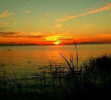 Lake Manitoba Sunrise by Larry Trupp