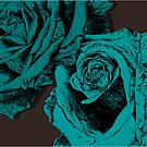 roses turquoise by andrew j wrigley