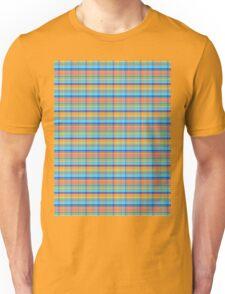 blue orange plaid Unisex T-Shirt