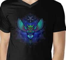 Sacred Geometry Owl Mens V-Neck T-Shirt