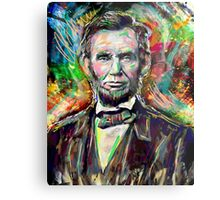 Abraham Lincoln Art  Metal Print