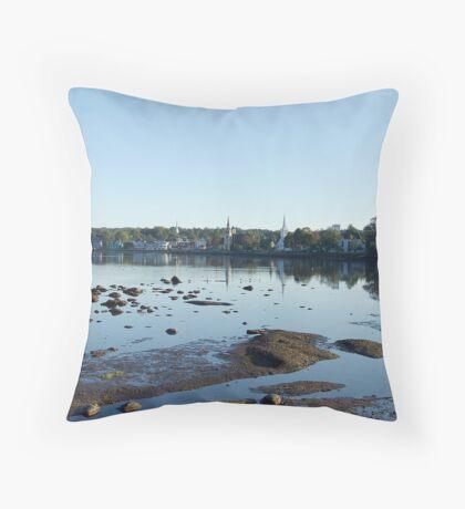 Mahone Bay Churches Throw Pillow