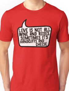 Handcuffs and Cheese Unisex T-Shirt