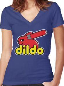 Duplo Dildo Women's Fitted V-Neck T-Shirt