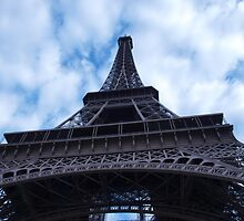 Ground view of the Eiffel Tower, Paris, France by victoriakwwu