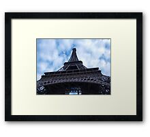 Ground view of the Eiffel Tower, Paris, France Framed Print