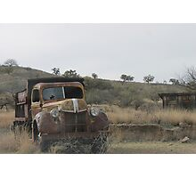 Abandoned Car Photographic Print