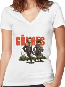 The Grimes Women's Fitted V-Neck T-Shirt