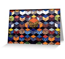 31 - HEXAGON DESIGN - 02 - DAVE EDWARDS - COLLAGE Greeting Card