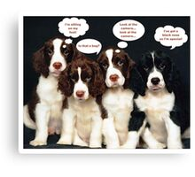 Puppy Thoughts Canvas Print