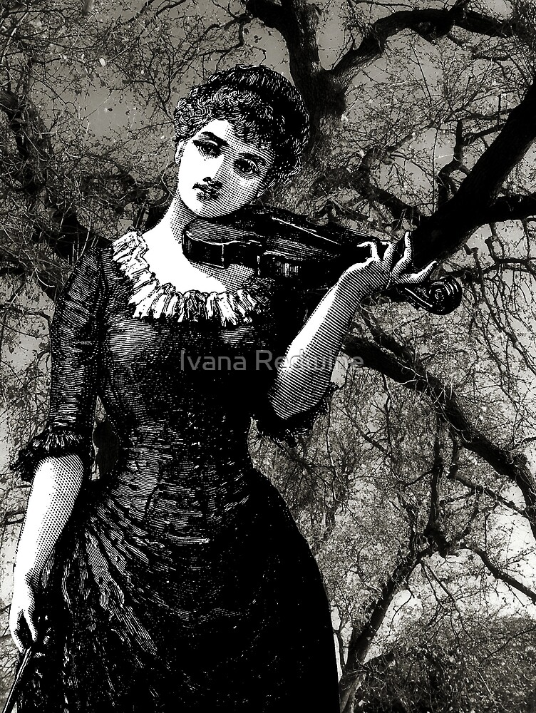 Woman, Violin, Trees by Ivana Redwine