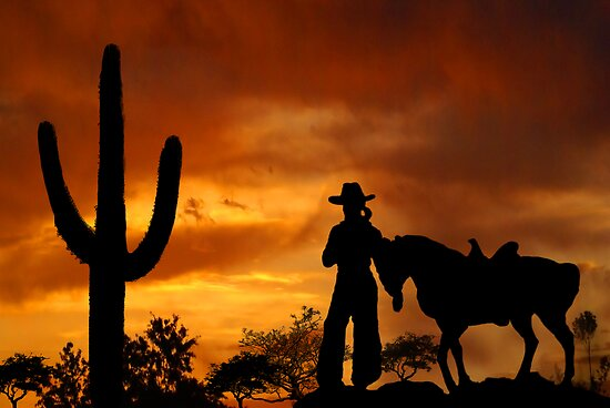 Cowgirl Sunset by Samantha Dean