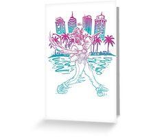 Hotline Miami cool gaming print Greeting Card