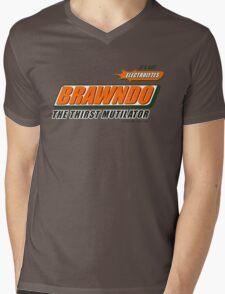 BRAWNDO Mens V-Neck T-Shirt