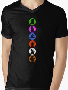 Crazy Silhouettes Mens V-Neck T-Shirt