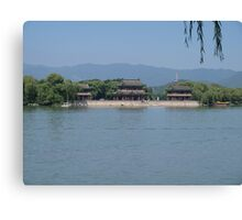 Chinese Garden and Lake Scenery Canvas Print