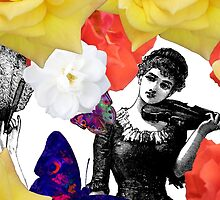 Composition With Women, Roses, Abstracted Butterflies – March 9, 2010 by Ivana Redwine
