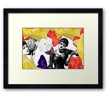 Composition With Women, Roses, Abstracted Butterflies – March 9, 2010 Framed Print