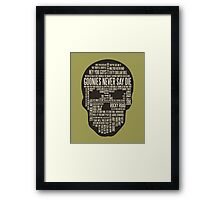 The Goonies - Movie's Quotes Design Framed Print