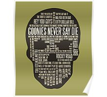 The Goonies - Movie's Quotes Design Poster
