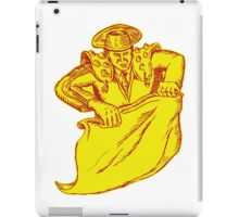 Bullfighter Matador Bullfighting Etching iPad Case/Skin