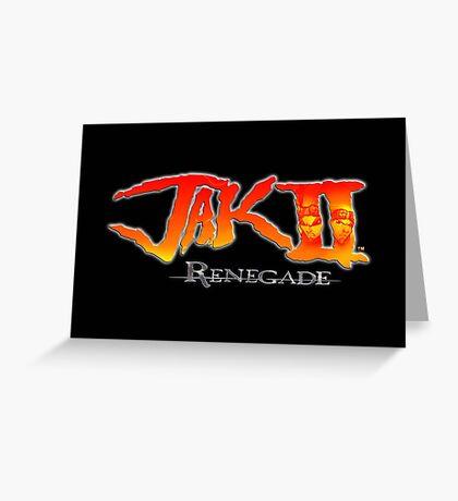 Jak II Renegade Greeting Card