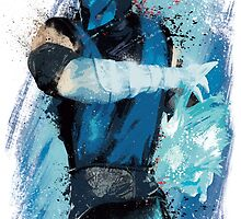 """""""Sub-Zero"""" Splatter Art by KYCollectibles"""