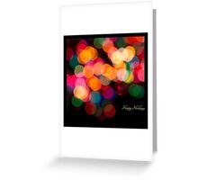 Holiday Candy in Lights - square Greeting Card