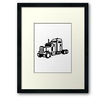 Truck vehicle Framed Print