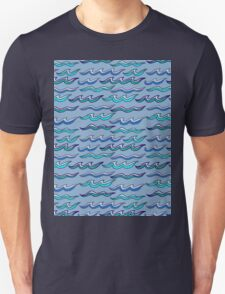 scribbled waves Unisex T-Shirt